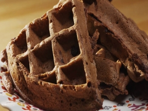 Chocolate Chocolate Chip Waffles
