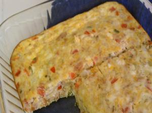 Cornbread Quiche Squares
