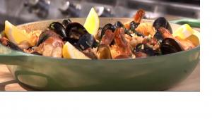 Barbecued Spanish Rice with Sausage and Mussels Recipe