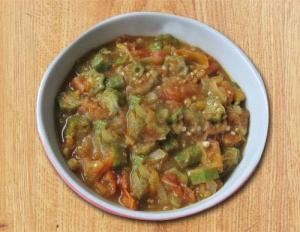 Smothered Okra  Eggplant  And Tomato
