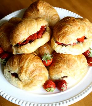 Triple Berry Cheesecake Croissant Sandwiches