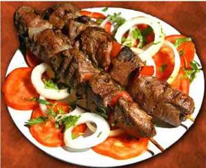 Skewered Steak And Mushrooms