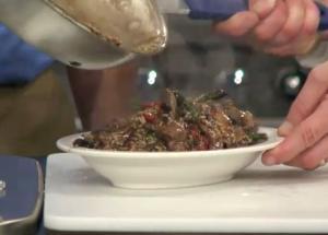 Beef Asparagus and Portobello Mushroom Stir-Fry with Brown Rice