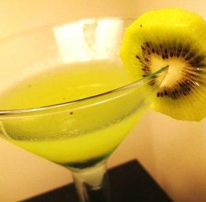 Gorgeous green kiwi martini.