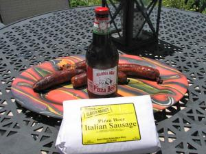 Pizza Beer Sausage at Ream's Elburn Market