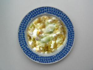 Cucumber with Cottage Cheese Salad