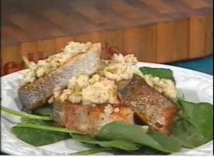 Trout Steaks with Yams - Cooking Made Simple by Belucci