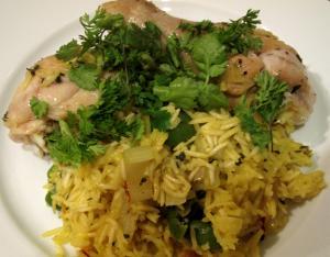 Italian Chicken With Saffron Rice