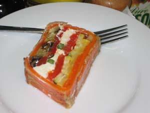 carrot & chevre terrine