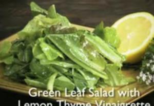 Healthy Green Leaf Salad with Lemon Thyme Vinaigrette