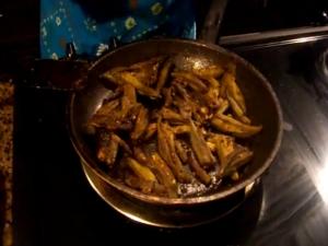 Stuffed Okra / Bharvan Bhindi / Bhindi / Bhendi Masala