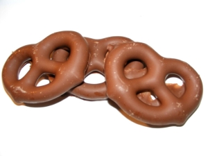 Pretzels Dipped in Chocolate