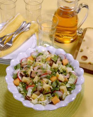 Spicy Chopped Napa Pastrami-Cheese Salad