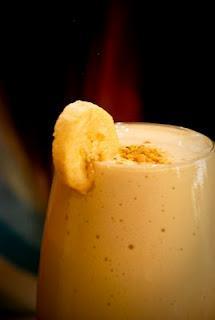 Delicious banana milk