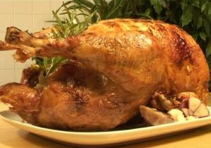 Roast Turkey With Orange Herb Stuffing Microwave Method
