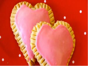 Valentines Raspberry Cream Cheese Heart Tarts