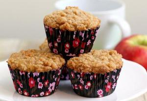 Apple Streusel Wheat Germ Muffins