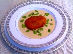 Cream Of Cauliflower Soup With Fried Oysters And Chervil