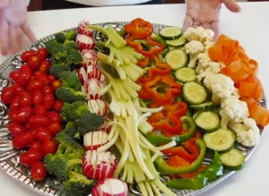 Vegetable Relish Tray for Fourth of July Dinner
