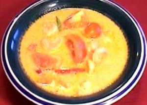 Thai Shrimps Yellow Curry