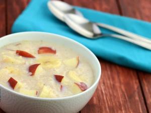 Banana Apple Porridge Healthy Breakfast By Tarla Dalal