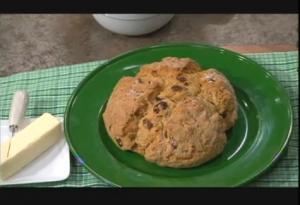 Irish Soda Bread with Nuts and Raisins