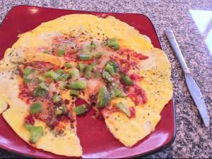 Gluten - Free Vegetarian Omelette Pizza