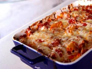 Baked Pasta with Zucchini and Mozzarella