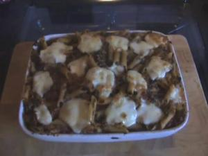 Tuna Mushroom Mozzarella Bake