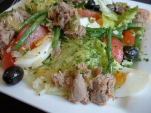 Whole Sea Bass Nicoise