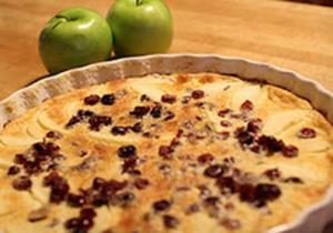 Apple and Cranberry Flaugnarde