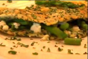 Asparagus Stuffed Omelet