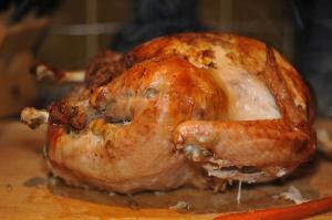 Golden Roast Turkey with Oyster Stuffing