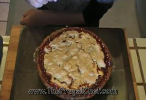 Homemade Rhubarb Pie with Strawberry