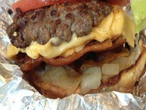 FREE EXTRA BACON at Five Guys Burgers and Fries