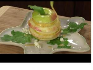 Apple Pear Stacked Salad