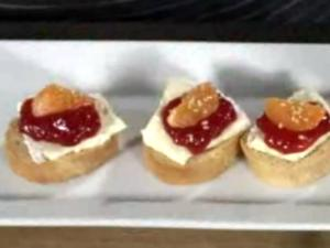 Wegmans Brie & Clementine Canapes
