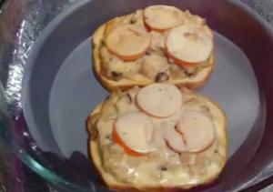Solar Cooked Tuna Melt Sandwich