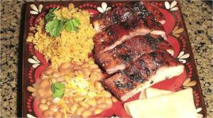 Mexican Style Grilled Baby Back Ribs in Tequila Glaze