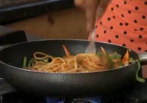 Saucy Chinese Style Spaghetti