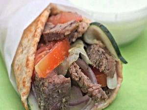 Easy Greek Lamb Wraps
