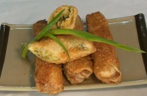 Crunchy Seafood Egg Rolls