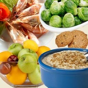 Lower cholesterol level through proper diet and exercise.