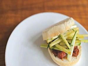 Crispy Chorizo & Minty Cucumber Sandwich