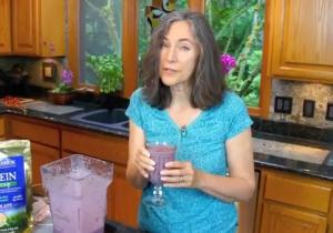 Blended Raw Fruit Protein Shake