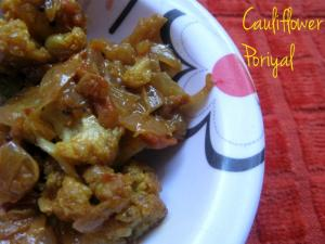 Cauliflower Poriyal