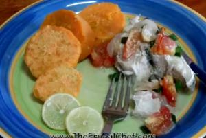 Fijian White Fish Poached In Coconut Milk