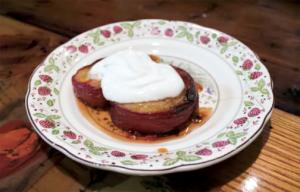 Plums with Maple Syrup and Greek Yogurt