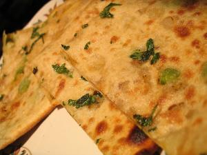 Potato And Herb Stuffed Flat Bread