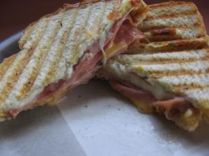 Joe's Panini with homemade cranberry/dijon Sauce